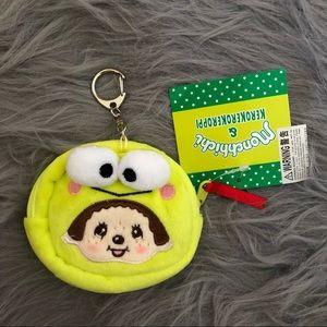 Monchhichi x Sanrio mini coin purse